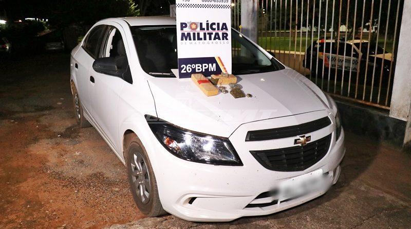 Policia Militar apreende um menor e prende um maior com drogas em Nova Mutum-MT