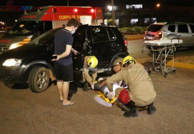 Acidente entre dois veículos deixa uma pessoa ferida em Nova Mutum-MT