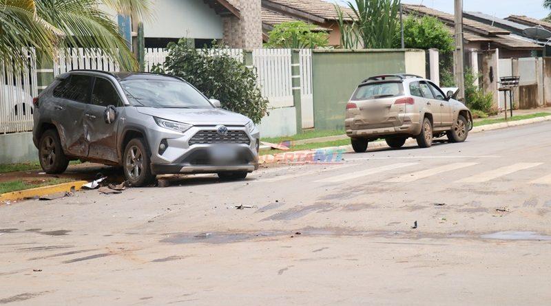 Condutor invade preferencial e provoca acidente em Nova Mutum-MT