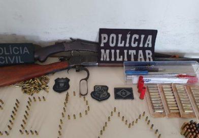 Policiais apreendem armas e mais 200 munições em Mato Grosso; suspeito preso