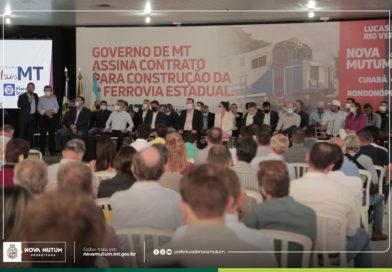 Prefeito Leandro Félix assina contrato de concessão da 1ª Ferrovia Estadual